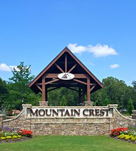 Entry to Mountain Crest Real Estate Cumming GA